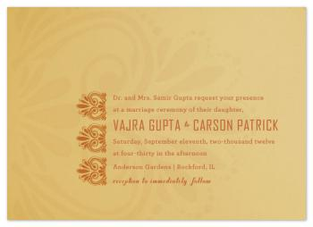 Married in Mehndi Wedding Invitations
