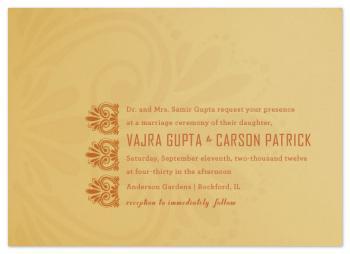 Married in Mehndi Wedding Invitations