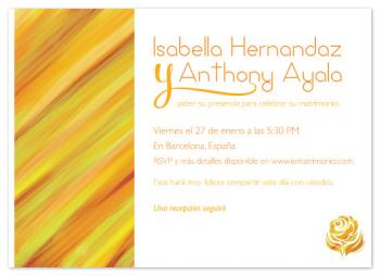 Spanish Sunset Wedding Invitations