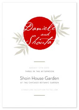 Rising Sun Wedding Invitations