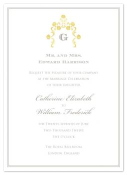 A Royal Affair Wedding Invitations
