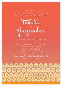 Sunset in India Wedding Invitations