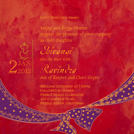 wedding invitations - TietheKnot by Gunjan Srivastava