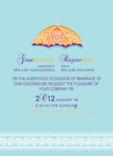 wedding invitations - 1under parasol by Gunjan Srivastava