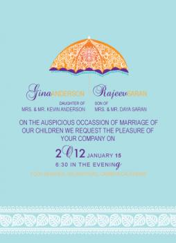 1under parasol Wedding Invitations