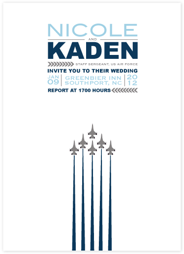 wedding invitations - Air Force Salute by Heather.