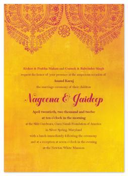 Anand Karaj Wedding Invitations
