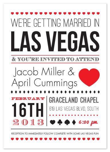 wedding invitations - Vegas Type by Elaine Stephenson