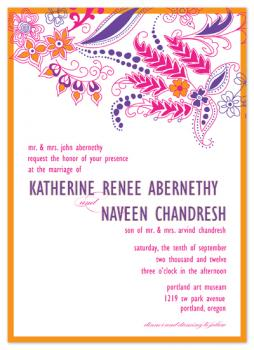 bright henna Wedding Invitations