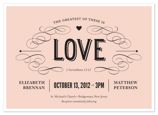 wedding invitations - The Greatest of These by Sandra Picco Design