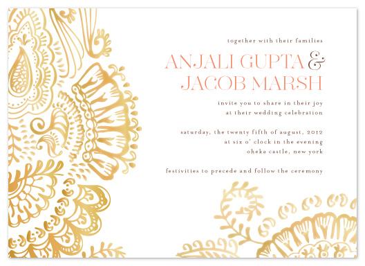 wedding invitations - Modern Mehndi by Laura Condouris