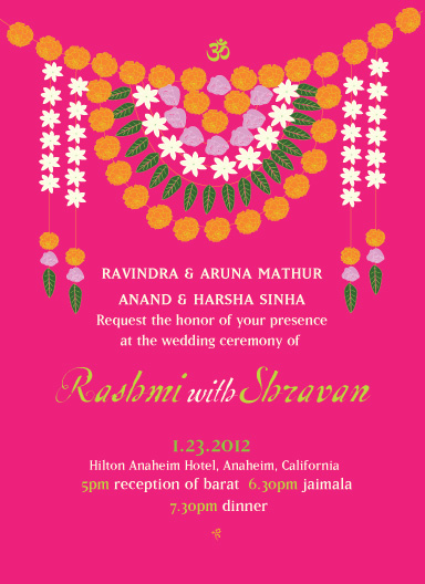 wedding invitations - Flower_garland by Gunjan Srivastava