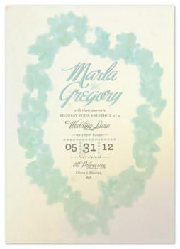 Light Wash Lei Wedding Invitations