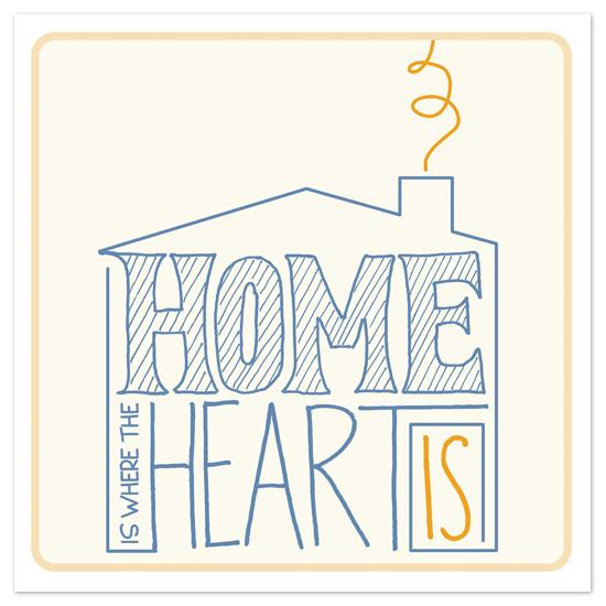 art prints - Home Is Where the Heart Is by Jen Serafini