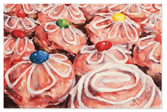 art prints - Candyland Cupcakes by Tate Design