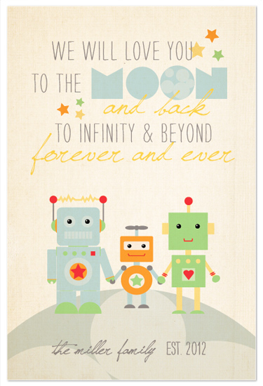 art prints - Robot Family by Dawn Jasper