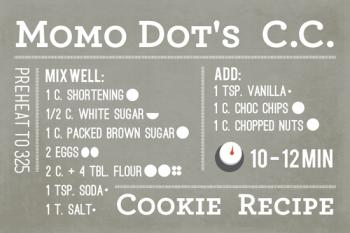 MoMo Dot's Chocolate Chip Cookie Recipe Art Prints