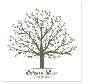 Fingerprint Wedding Tree Art Prints
