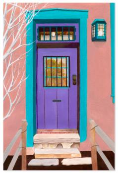 Santa Fe Door Art Prints