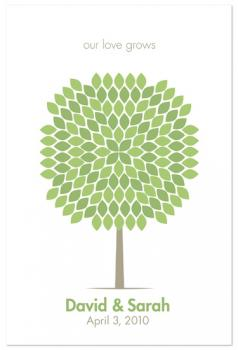 Modern Signature Tree Art Prints