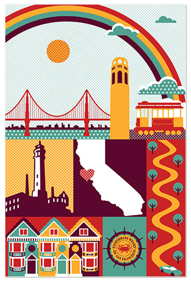 art prints - I Heart San Fran by Casey Fritz