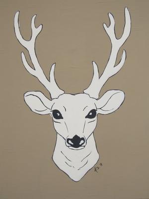 art prints - Seriously Deer by Melanie Daily