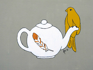 art prints - Teapot Perch by Melanie Daily