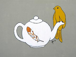 art prints - Teapot Perch by Melanie Daily