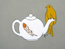 Teapot Perch by Melanie Daily