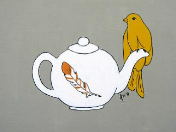 Teapot Perch Art Prints