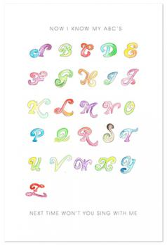 Water Color Alphabet
