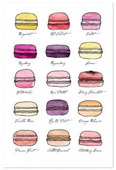 Macarons! Life is Sweet Art Prints