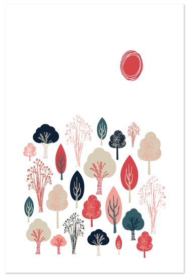 art prints - Friendly Forest by Olivia Raufman