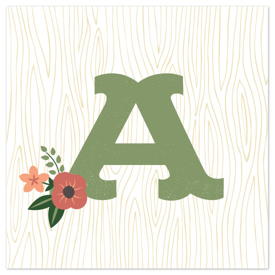 art prints - Woodsy Monogram by Olivia Raufman