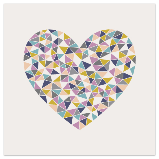 art prints - Faceted Heart by Amber Barkley
