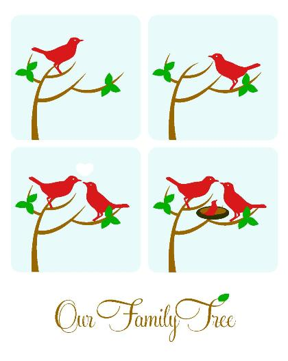 art prints - Our Family Tree by Jessica Kim