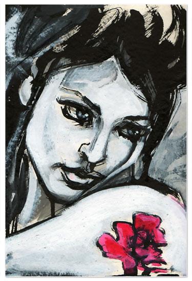 art prints - Rose Tattoo by Charis