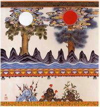 Rising sun & moon by Kumoak Rang