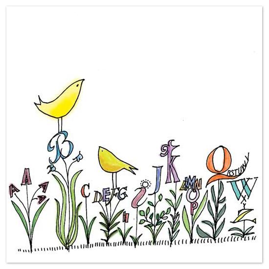 art prints - Alphabet Garden by Elizabeth von Buedingen