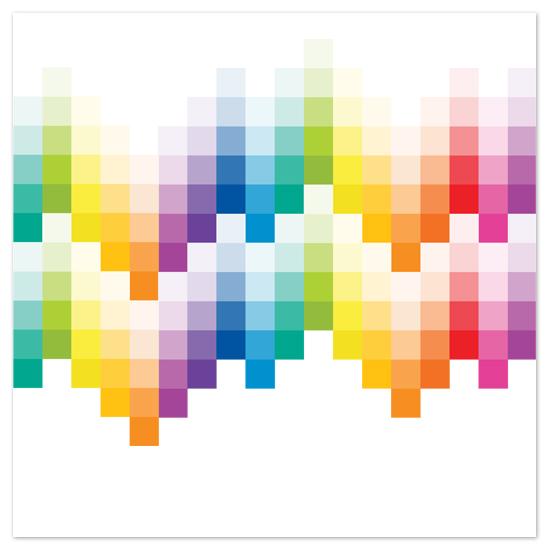 art prints - Rainbow Squares by Elizabeth von Buedingen