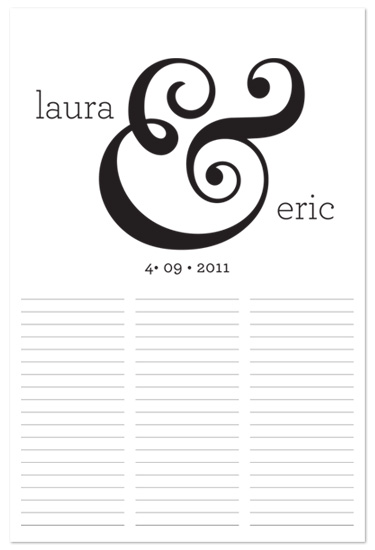 art prints - Ampersand Wedding Autograph Chart by Ampersand Design Studio