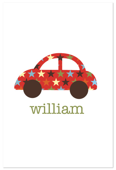 art prints - Patterned Car Kid's by Ampersand Design Studio