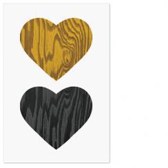 Woodgrain hearts