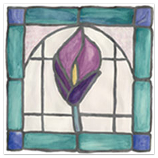 art prints - Stained Glass Window - Calla Lily  by Shamera Kane