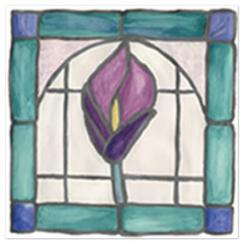 Stained Glass Window - Calla Lily  Art Prints