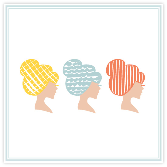 art prints - A blonde, a bluenette, and a redhead  by feb10 design
