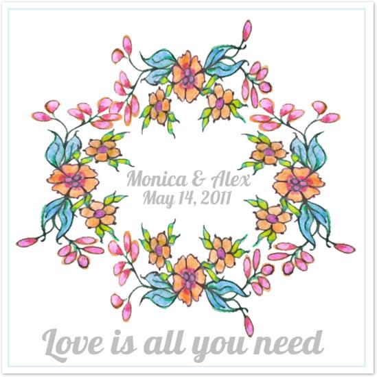 art prints - Romantic Wreath by Monica Schafer