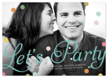 Let's Party Save the Date Cards