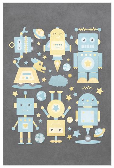 art prints - The Robot Collective by Dawn Jasper