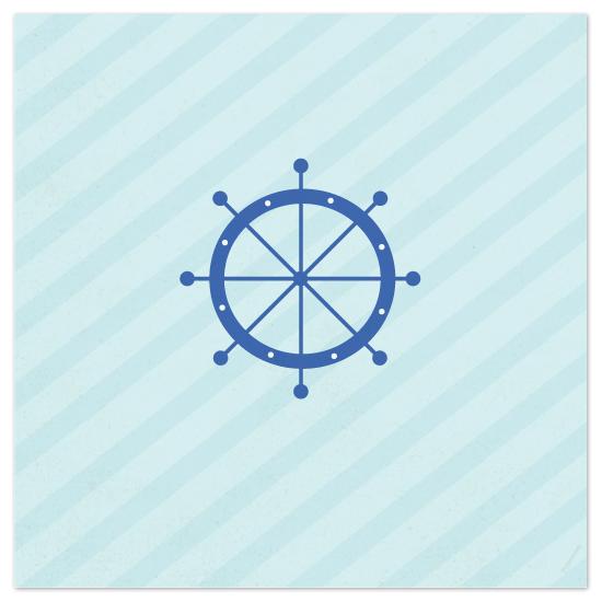 art prints - Nautical Stripes Helm by AJCreative